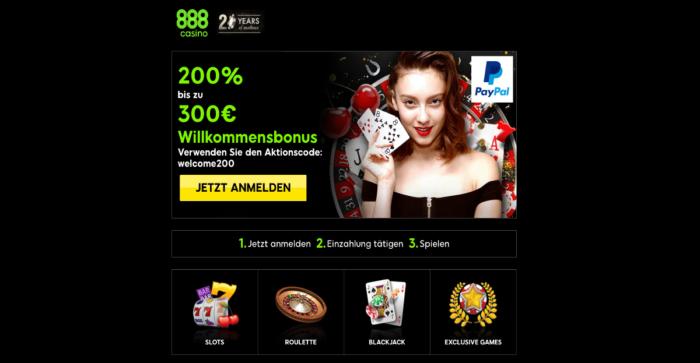 Bei 888casino täglich 888 Euro gewinnen