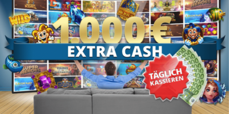 Im Sunmaker Casino täglich bis zu 1.000 Euro Extra Cash gewinnen