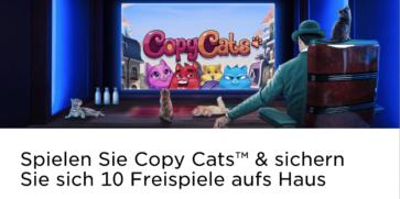 Das Mr Green Casino verschenkt 10 Freispiele für Copy Cats