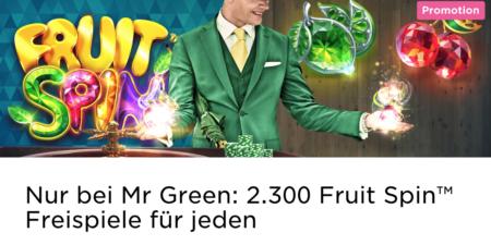 Freispiele beim Roulette spielen im Mr Green Casino sichern