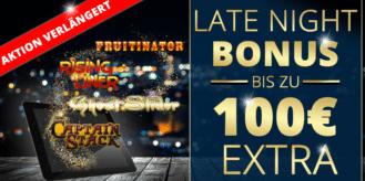 Hole dir den Late Night Bonus im Sunmaker Casino