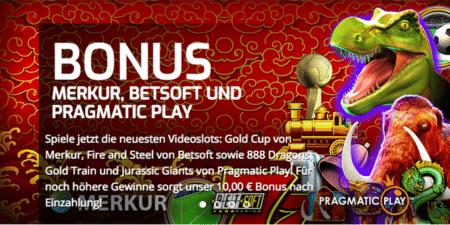 Hole dir einen 10 Euro Bonus im Lapalingo Casino und teste die 5 neuen Slots