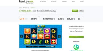Die EmotionCoins Werbeaktion im Lapalingo Casino
