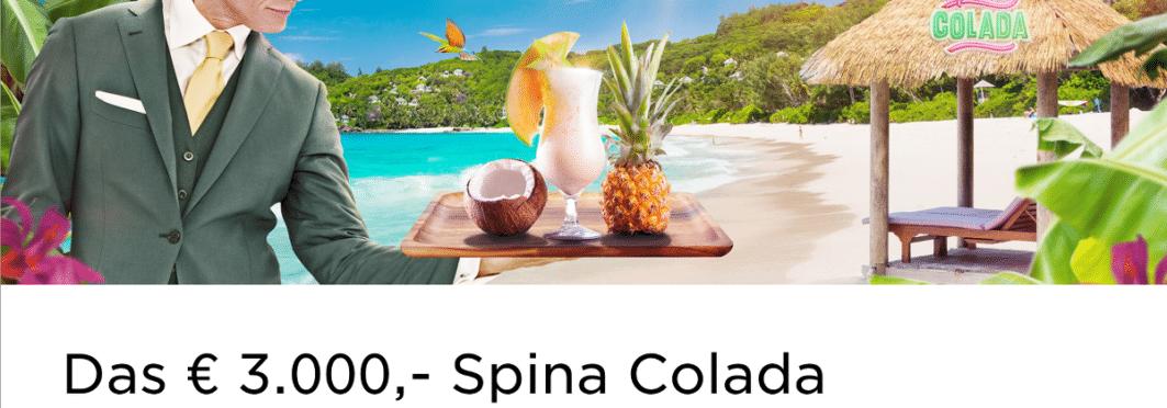 Spina Colada im Mr Green Casino spielen und Geldpreise gewinnen