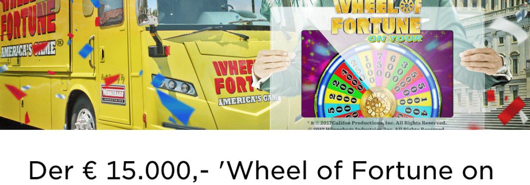 Die Werbeaktion Wheel of Fortune on Tour im Mr Green Casino